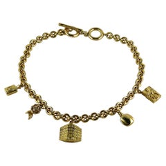 Christian Dior Vintage Iconic Gold Toned Charms Necklace