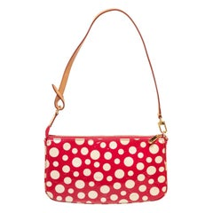 Louis Vuitton Red Monogram Vernis Leather Pochette Kusama Infi Bag