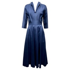 1950s Claire McCardell Blue Silk Dress