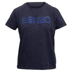 Kenzo Navy Short Sleeve Logo T-Shirt