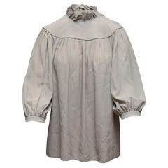 Celine Grey Three-Quarter Sleeve Blouse