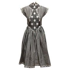 Geoffrey Beene Black & White Gingham Dress