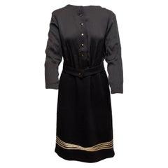 Geoffrey Beene Black & Gold Long Sleeve Dress