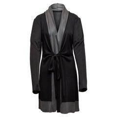 Balenciaga Black & Grey Long Sleeve Dress