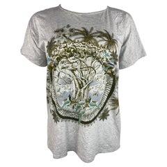 Hermes Paris Grey T-Shirt, Size 36