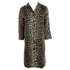 Ganni Leopard Coat Jacket, Size 38