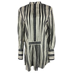 Christian Dior Black and White Blouse Tunic, Size 36
