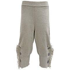 Issey Miyake knitted fringed pants, c. 1980s