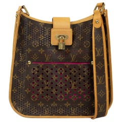 Musette Perforated in brown canvas