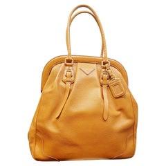 Prada camel Leather  high doctor bag