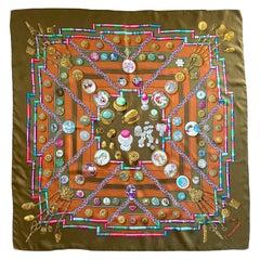 Hermes Petit Main 90cm Silk Scarf by Caty Latham Jade