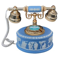 RARE Wedgwood Jasperware Blue Rotary Dial Astral Vintage Telephone Collector