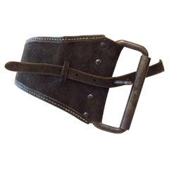 Maison Martin Margiela Asymmetrical Saddel Leather Belt