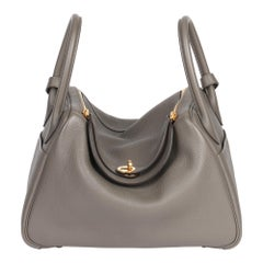 Hermes Etain Clemence Leather Lindy 30cm