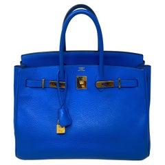 Hermes Birkin Hydra Bleu 35 Bag