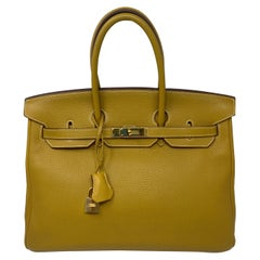 Hermes Birkin 35 Curry Yellow Bag