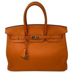 Hermes Birkin 35 Feu Orange Bag