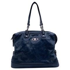 Celine Bluette Patent Leather Tote Shoulder Bag Handbag