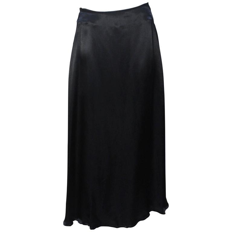 Yohji Yamamoto Asymmetrical Satin Skirt