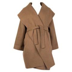 BOTTEGA VENETA olive drab brown cashmere OVERSIZE Coat Jacket 38 XS