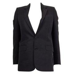 CELINE charcoal grey wool CLASSIC Blazer Jacket 34 XXS