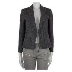 CELINE dark grey HEATHER wool OPEN Blazer Jacket 38 S