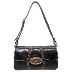 Gucci Black Mini Leather Shoulder Bag