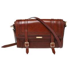 Burberry Brown Leather Bridle Doyle Shoulder Bag