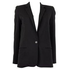 CHLOE black wool CLASSIC Blazer Jacket 34 XXS