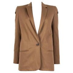 CHLOE ochre brown wool CLASSIC Blazer Jacket 34 XXS