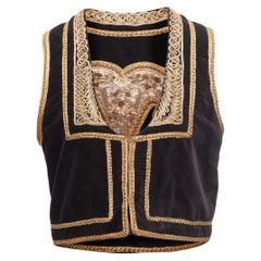 Nili Lotan Black Embroidered Vest