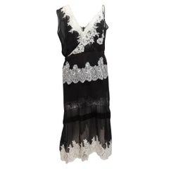 Altuzarra Black & White Sleeveless Silk Dress