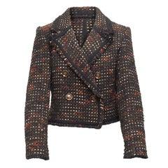 Veronica Beard Black & Multicolor Tweed Blazer