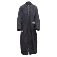 JNBY Navy Long Nylon Coat