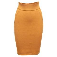Alaia Mustard Wool Bodycon Skirt