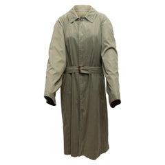 Hermes Olive Belted Trench Coat
