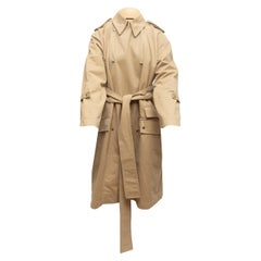Acne Studios Tan Double-Breasted Trench Coat