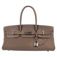 Hermès Birkin Shoulder JPG Etoupe Clemence Taurillon PHW