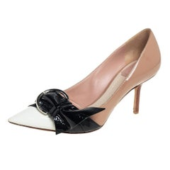 Dior Multicolor Patent Leather Buckle Pointed Toe Pumps Size 38