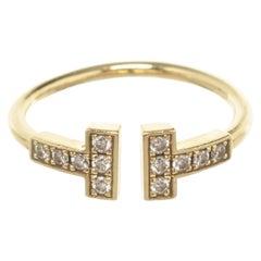 Tiffany & Co Gold T Wire Diamond Ring