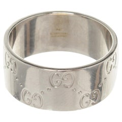Gucci Silver Icon Wide Ring