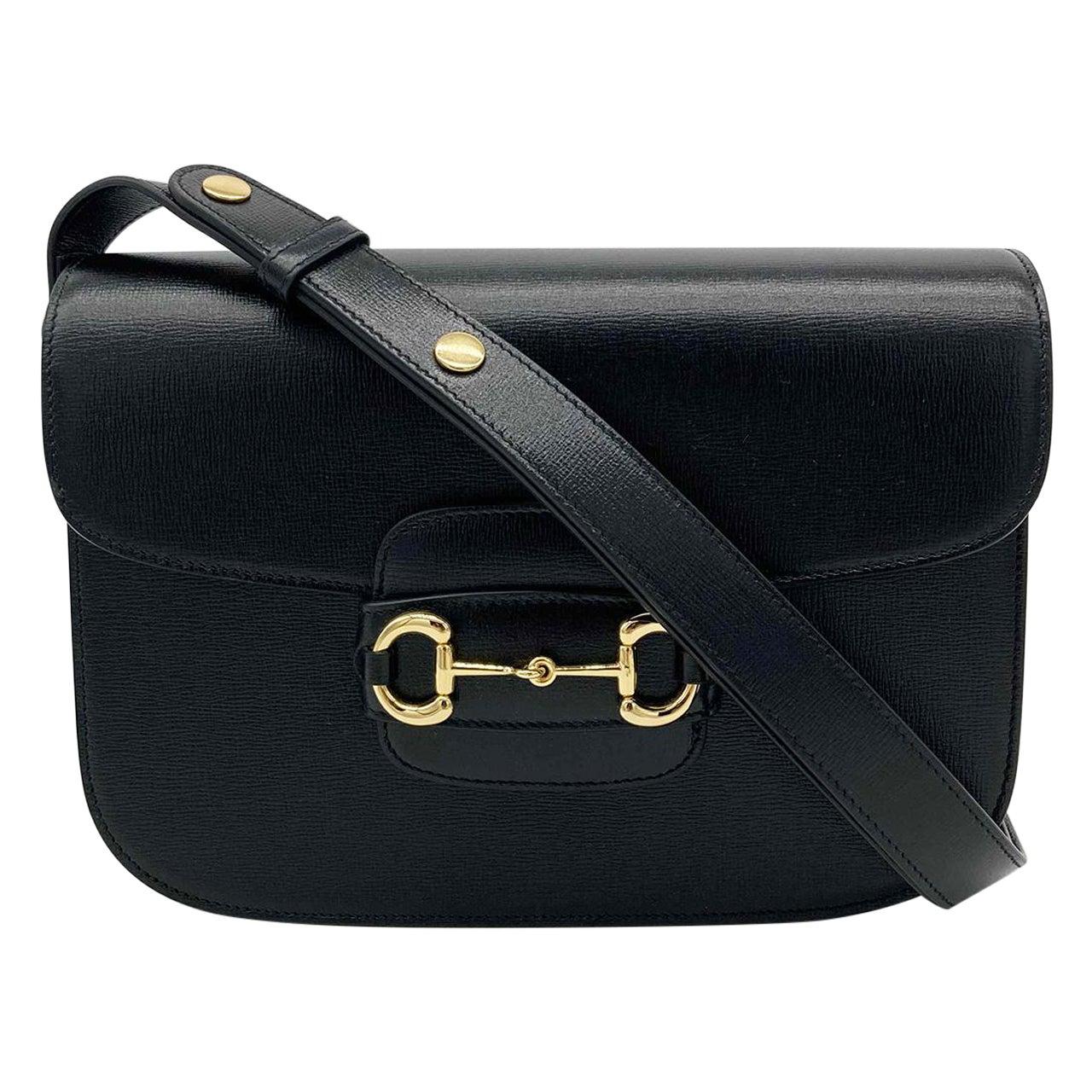 NWOT Gucci Black Leather 1955 Horsebit Bag