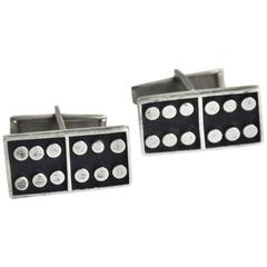 1950s Sterling Dominoes Cufflinks, Mexico