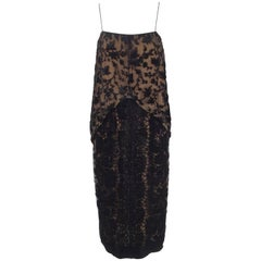 Early 1980s Holly Harp Three-Piece Silk Burnout Camisole and Skirt Ensemble