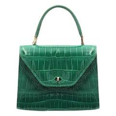 Giòsa Milano Green Crocodile Bag