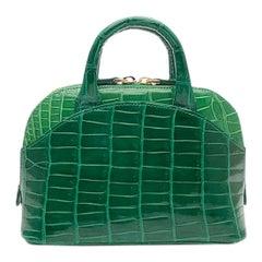 Giòsa Milano Green Crocodile Mini Bag