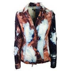 Roberto Cavalli Fall 2001 Burnt Effect Denim Jacket