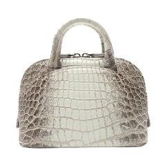 Giòsa Milano White Himalayan Crocodile Mini Bag