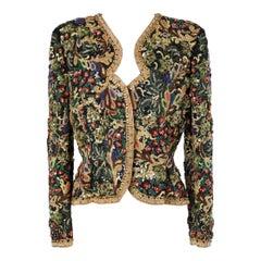Full embroidered evening jacket Oscar de la Renta