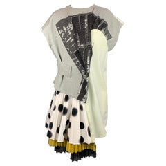 MARC by MARC JACOBS Size S Gray & White Blurred Dot Print Cotton Dress